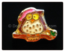 Hoot Owl on Tree Branch Floating Locket Charm
