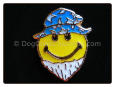 Hippy Smiley Face Beard Floating Locket Charm