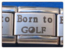 Born to Golf Laser Italian charm