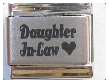 Daughter in Law Laser Italian charm