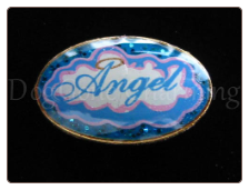 Angel Clouds OVAL  Floating Locket Charm