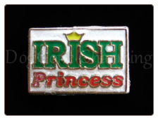 Irish Princess Red  Floating Locket Charm