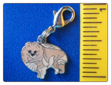 Dog Dangle Charm   Pomeranian Dog