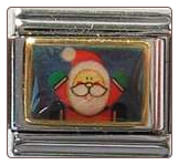 Santa Photo 9 mm Sq italian charm