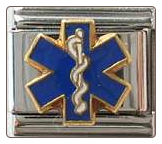 Medical Caduceus/EMT Symbol -  Blue