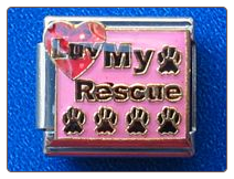 Luv My Rescue Pink Italian charm